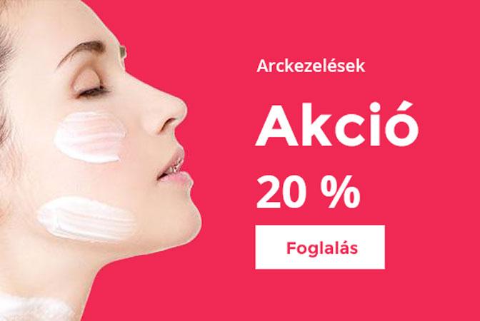 Kozmetika arckezelés akció